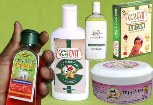 Beauty and grooming products made from cow dung and cow urine