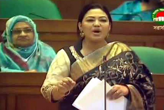 Momtaz sings in parliament